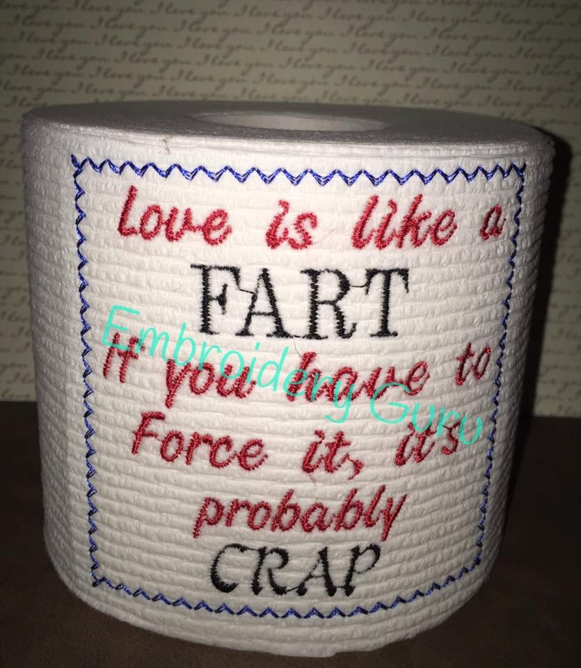 embroidered toilet paper sayings | just b.CAUSE