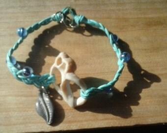 Braided seashell bracelet