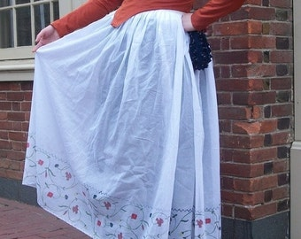 "Made to Order Late 18th Century ""Anne"" Painted Petticoat"