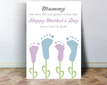 Mothers Day Footprint Print