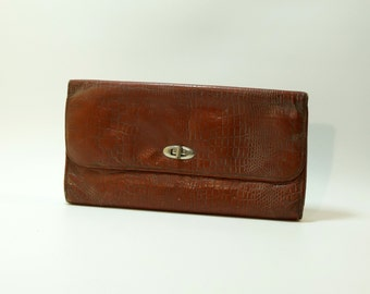 Soviet vintage coin purse, Change purse, Ladies' leather purse, maney wallet USSR 1970s