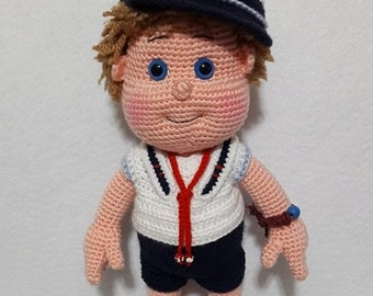 Sailor Boy- Amigurumi Crochet Pattern-PDF