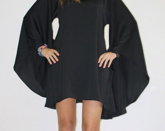 Oversized top, Tunic dress, Black tunic, Loose tunic dress, Boho tunic, Festival top, Party tunic, Maxi top, Loose top