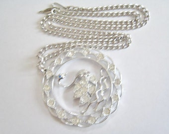Sarah Coventry Swan Necklace