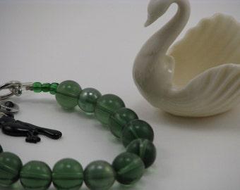 Jade Black Bird Bracelet