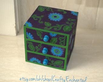 3 drawer wooden box