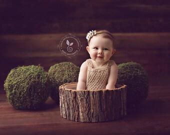 Original DS design LARGE Natural Bark Bowl; Wooden prop; Photo prop; Newborn prop; Wooden Bowl; Newborn Poser; Baby Bowl