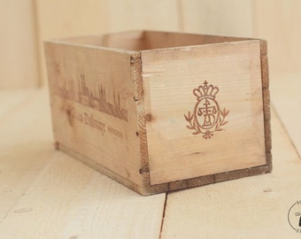 Vintage Alois Dallmayr Wooden Box; Newborn Photo Prop; Posing Prop; Wooden box; Wooden crate; Baby prop