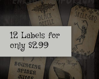 12 Harry Potter Inspired Potion Labels For Only 2.99