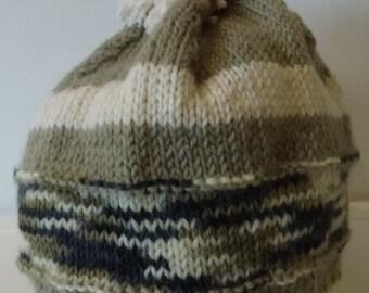 Hand knitted beanie - Men