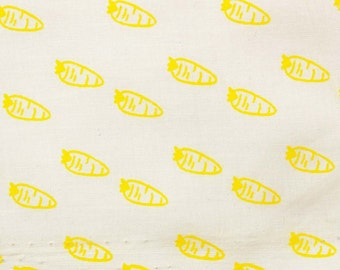 "4e"" Wide Crafted Fabric Dressmaking Material Apparel Sewing Fabric Yellow Carrot Print Fabric Indian Sewing Cotton Fabric By 1 Yard ZBC7940A"