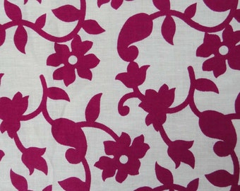 """41"""" Wide White Color Pure Cotton Floral Printed Pattern Indian Fabric Designer For Sewing Crafting Dress Making Material By The Yard ZBC5588"""