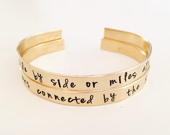 Skinny Gold Cuff Bracelet, Hand Stamped Gold Bracelet, Custom Quote Pick Your Own