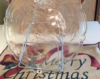 Vintage Anchor Hocking Christmas Platter