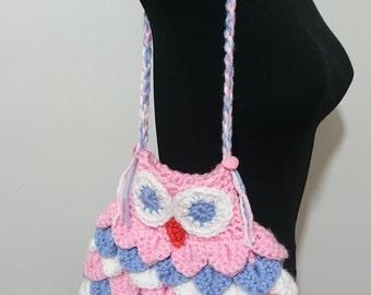 Homemade Owl Crocheted Purse/Bag