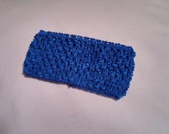 Royal Blue Crochet Headband, Royal Blue Headband, 2.75 Inch royal blue crochet headband, royal blue 2.75 inch headband, royal blue headband
