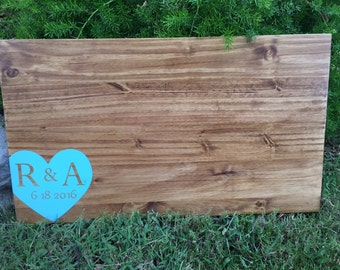 Custom large guest book sign