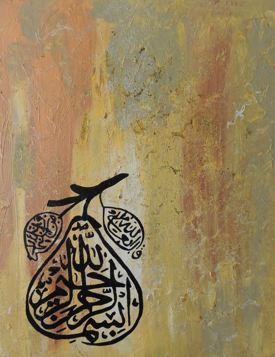 Beautiful Arabic Calligraphy Painting Acrylic On Canvas