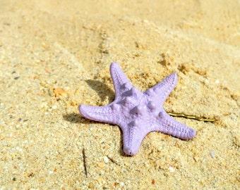 Lavender starfish hairpin, starfish bobby pin, Mermaid hair, beach hair, bridesmaid gift, beach wedding hair, beach hair accessory, Bride