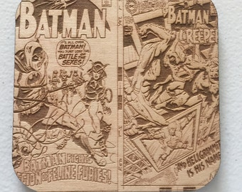 Batman comic book coasters