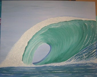 Large Seascape Wave Painting modern art ocean painting 24 x 30