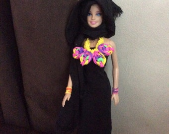 Doll loom band pretty statment necklace