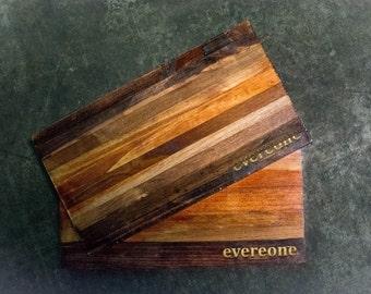 Reclaimed Wood Cheese Board, Cutting Board // New Home, Anniversary, Wedding Gift // Personalised Cheese Board // Custom Engraved / Handmade