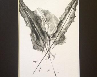 Leaves of Spring Monoprint #1