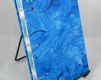 Handmade Blue Coptic Journal for Writing with Lined Paper