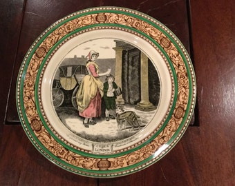 "ADAMS Cries of London - Luncheon Plate England Theme  ""Do You Want Any Matches"" Excellent"
