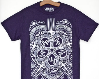 Flower of Life : Blackberry / (Dark) Purple T-Shirts / Graphic Tees / Geometric Clothing /Abstract / Art Wear / Tribal
