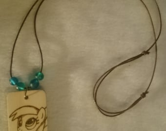 Derpy Hooves Pyrography Pendant