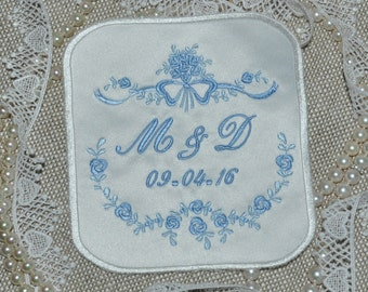 Wedding Dress Label, wedding gown patch, wedding dress something blue, monogram wedding dress patch