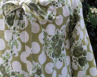Girls Size 1 Pheasant Dress. Vintage Fabric. Unique .