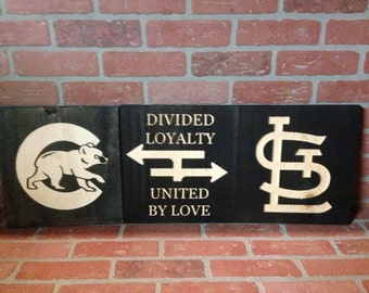 Etched Wood Rivalry Wall Decor