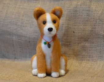 Needle Felted Shiba Inu- Basenji puppy Dog