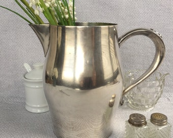 "Classic Vintage Oneida 6.5"" Silver Plated Pitcher, Item No. 1407"