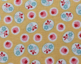 Calico Days - Yellow Cotton  Fabric