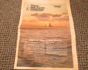 Waikiki Beach Press Tourist Newspaper June 23-25, 1978