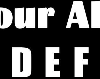 Know Your Alphabet Vinyl Sticker