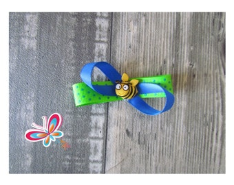 Clip hair bee green/blue