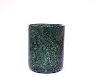 Green Marble Jar Storage or Candle Holder
