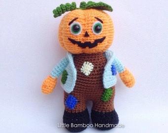 PATTERN- Pumpkin Jack-Crochet Pattern, pdf