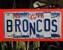 BRONCOS - Denver Broncos - custom Football license plate signs