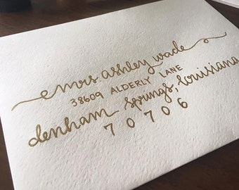 Simple//Elegant//Envelope//Addressing//Wedding invitations//Shower invitations//Calligraphy//Modern Calligraphy