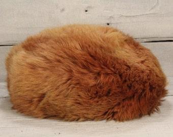 Vintage Brown Fur Hat/ Winter Boho Russian Hat/Vintage Warm Winter Hat for Women/ BrownFur/christmas gift