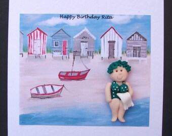 Birthday, blank, any occasion card handmade/ personalised by Hot Dough Creations