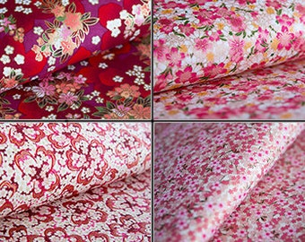 Cherry Blossom, Floral Japanese Paper, Washi Paper, Origami Paper, Handmade Paper, Chiyogami, Yuzen