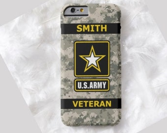 Army Veteran Cell Phone Case, iPhone 6 case, Note 4 cell case, iPhone 6 plus cell case, iPhone 6 plus case, Galaxy Samsung S6