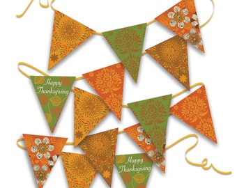 Thankgiving Bunting - Digital File